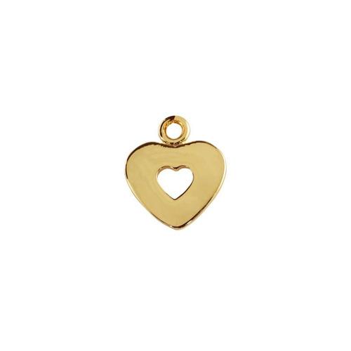 corazon doble con cadena chapa de oro 22 k
