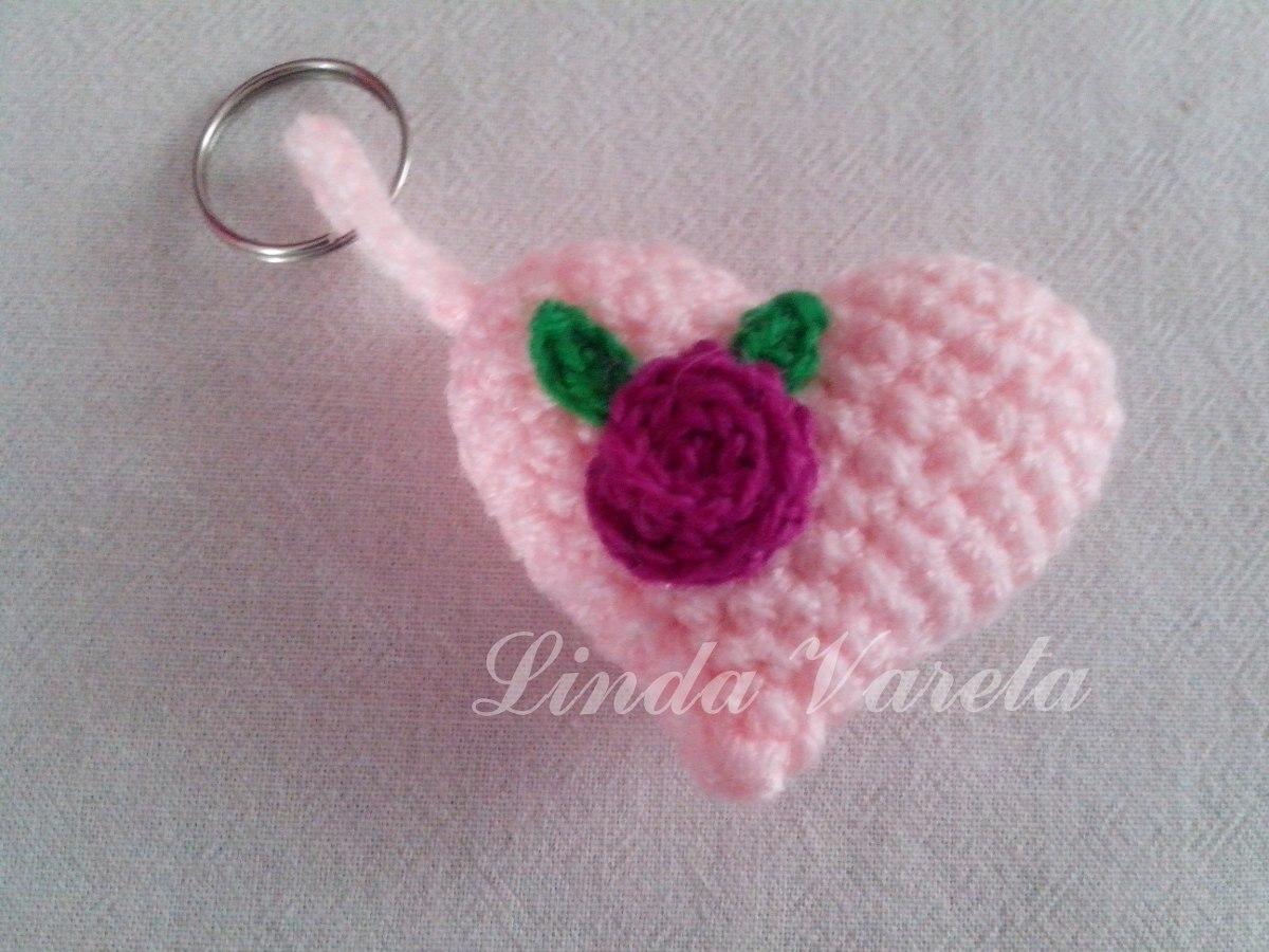 Amigurumi Llavero Corazon : Corazon llavero amigurumi al crochet souvenirs en