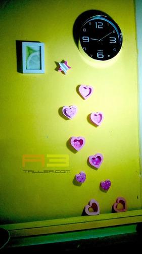 corazones adornos para pared 15x15cm  12 unidades