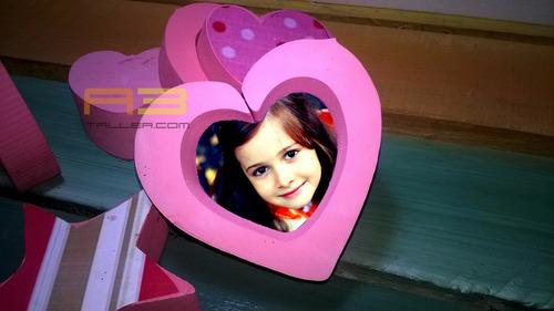 corazones adornos para pared 15x15cm