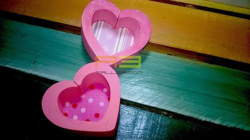 corazones adornos para pared 6x6cm