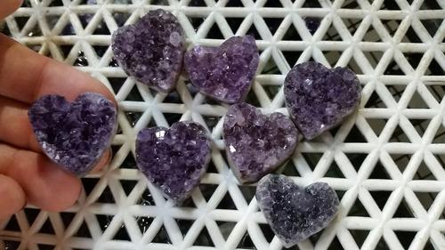 corazones amatistas amatista piedras energéticas energía