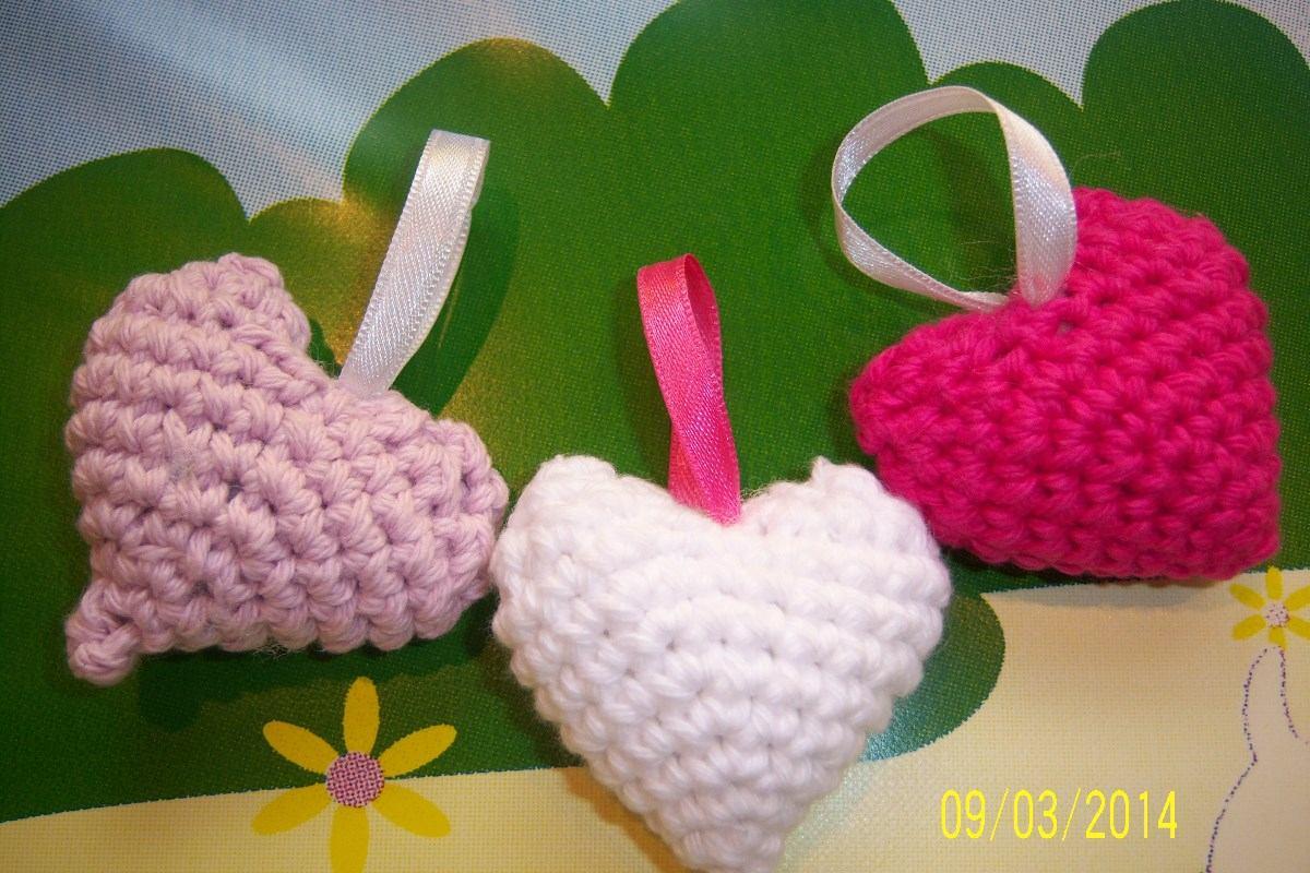 Corazones Tejidos Al Crochet - $ 35,00 en Mercado Libre