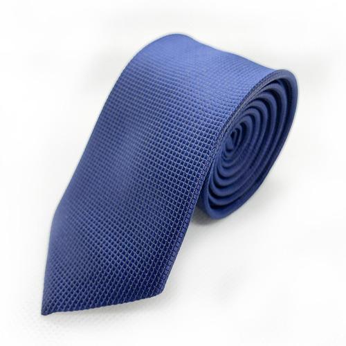 corbata azul cuadro slim tie delgada de moda para hombre 5cm