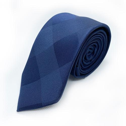 corbata azul marino slim tie delgada de moda para hombre 6cm