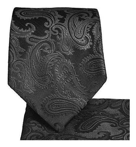 corbata con estampado de paisley juego de pañuelo cuadrado a