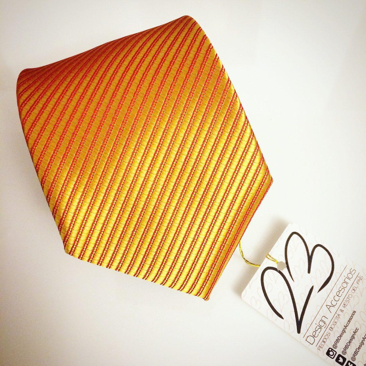 Corbata de 8cm color naranja amarillo quemado en sat n - Amarillo naranja ...