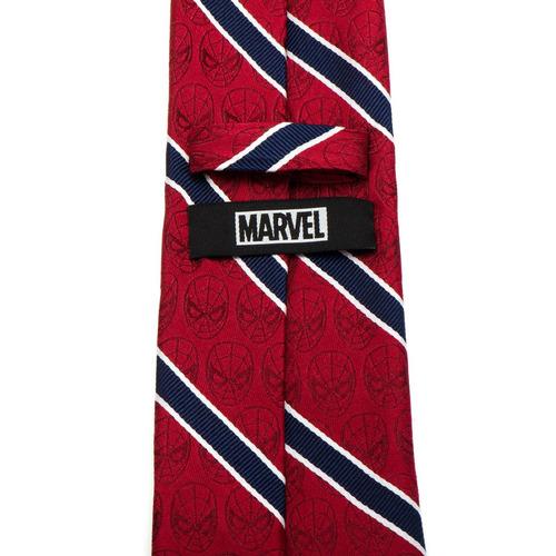 corbata de hombre marvel spider-man roja y azul marino, con