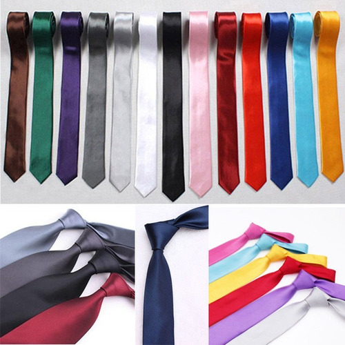 corbata delgada slim ropa para hombre mujer casual moda