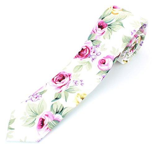 corbata flaca de algodón de los hombres corbata de color ros