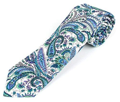 corbata flaca de algodón para hombre corbata colorida brilla
