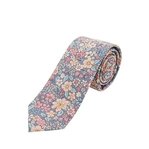 corbata flaca floral del algodón de los hombres de jnjstella