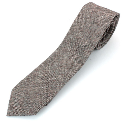 corbata flamé de algodón chambray de hombre con textura esti