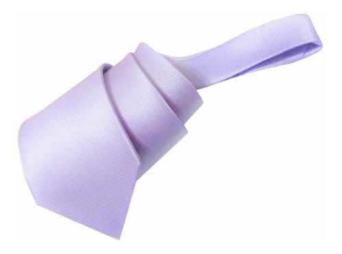 corbata lila claro jacquard textura micro cuadro