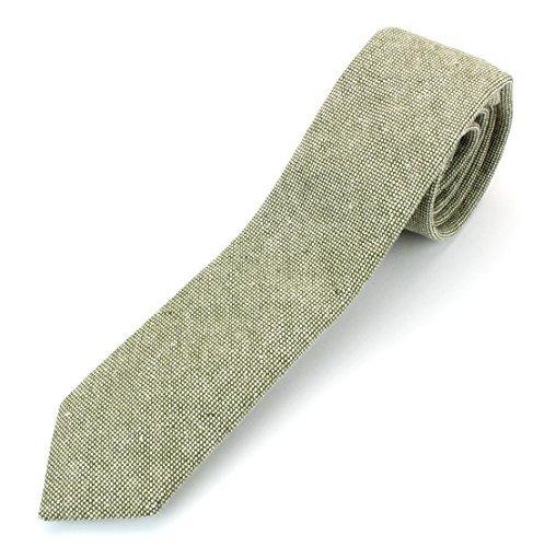 corbata lisa de algodón de lino de los hombres corbata tejid