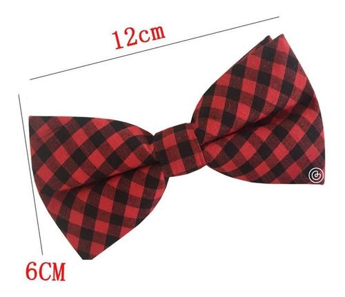 corbata moño estampado hombre grin accs cuadros rojo y negro
