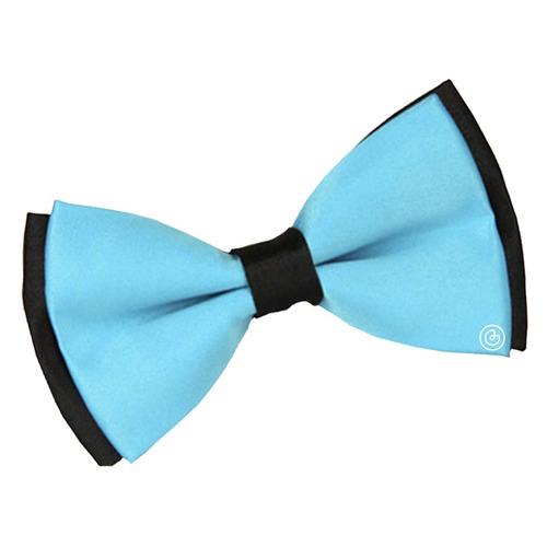 corbata moño estampado para hombre grin accc azul con negro