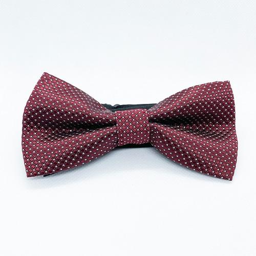 corbata moño pajarita vino punto blanco chico hombre
