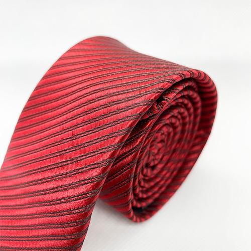 corbata roja /negra slim tie delgada de moda para hombre 5cm