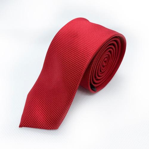 corbata roja slim tie delgada de moda para hombre 5cm
