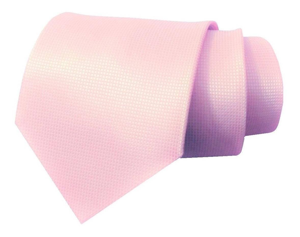 hermosa en color ahorre hasta 80% comprar original Corbata Rosa Claro Textura Micro Cuadros Jacquard