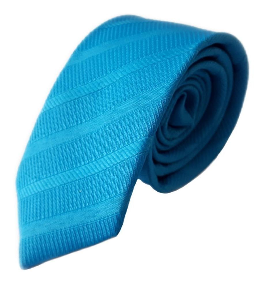 Corbata Slim Fit Azul Eléctrico Labrado - $ 18.500 en Mercado Libre
