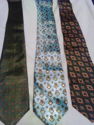 corbatas de caballero set de 3