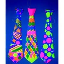 corbatas de color neón