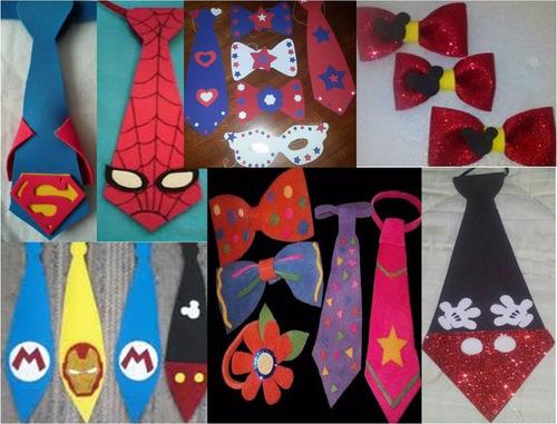 corbatas de foami para fiestas cotillones