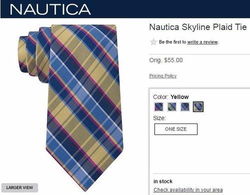 corbatas de seda  nautica y perry ellis.