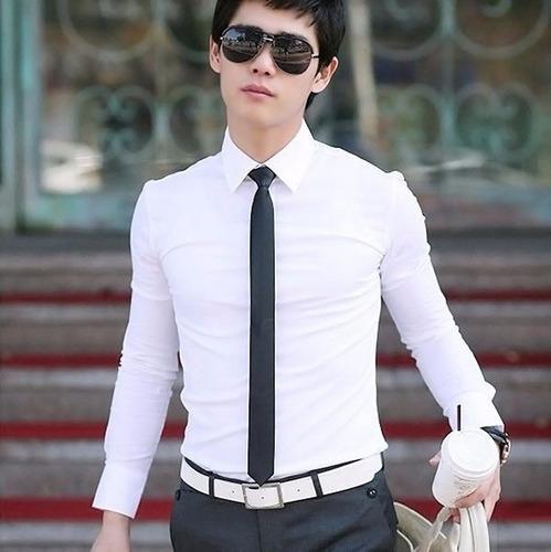 corbatas delgadas slim fit 5cm moda coreana