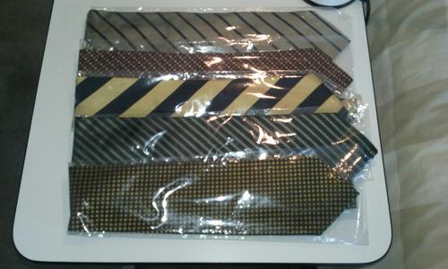 corbatas importadas, usadas, impecable estado, como nuevas