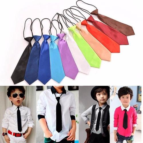 corbatas para niños unisex varios colores lote de 25 piezas