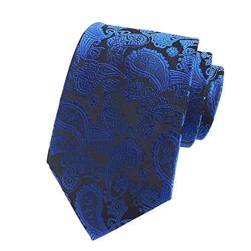 corbatas,piscis.goods new royal blue paisley jacquard wo..