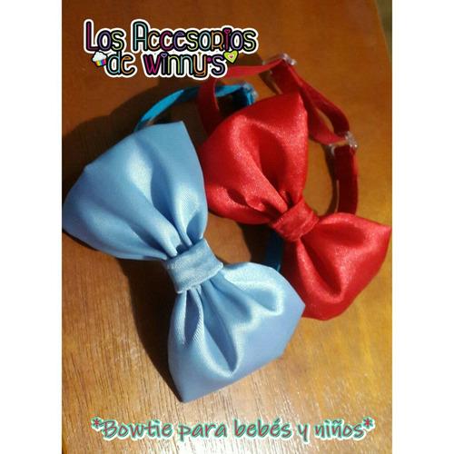 corbatin pajarita bowtie para bebé y niños (detal y mayor)