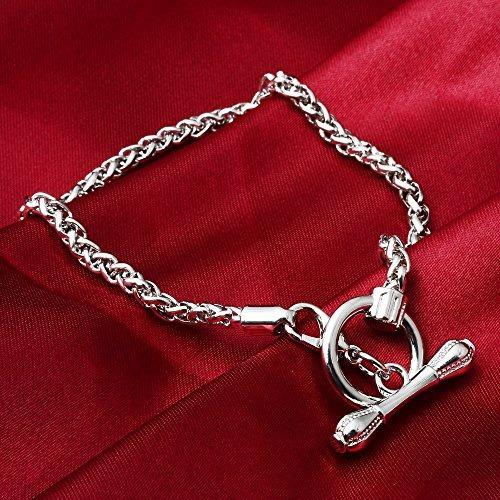 corchete  palanca cadena eslabones plata rubyca 10pcs 20cm