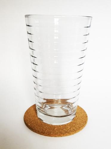 corcho base soporte para vasos termos calor aislante termico