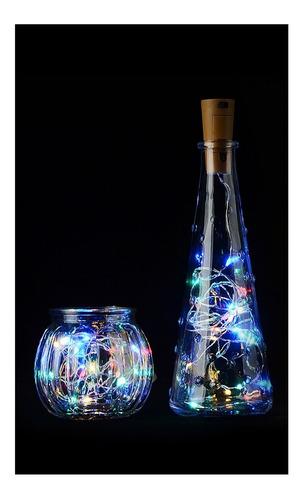 corcho botella tira led rgb multicolor decoración 2 metros