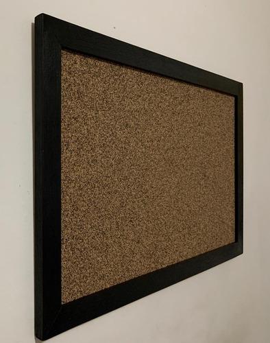 corcho tablero cartelera 67 x 52 cms enmarcado