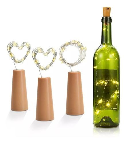 corchos led luminiosos vintage para bodas navidad 18 leds