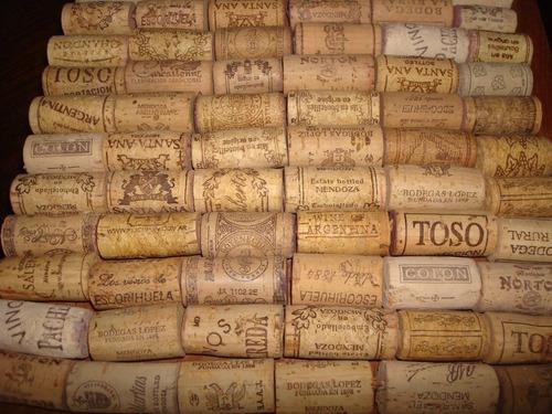 corchos naturales de botellas de vino usados chicos por 300