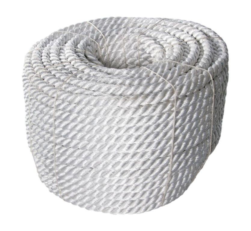Corda cabo torcido 3 pernas ancora nylon poliamida 10mm - Cuerda de nylon ...