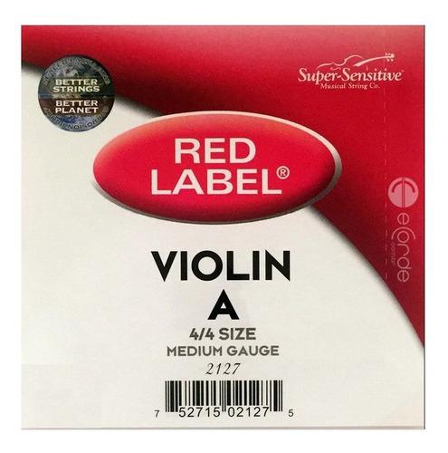 corda lá violino - red label ss