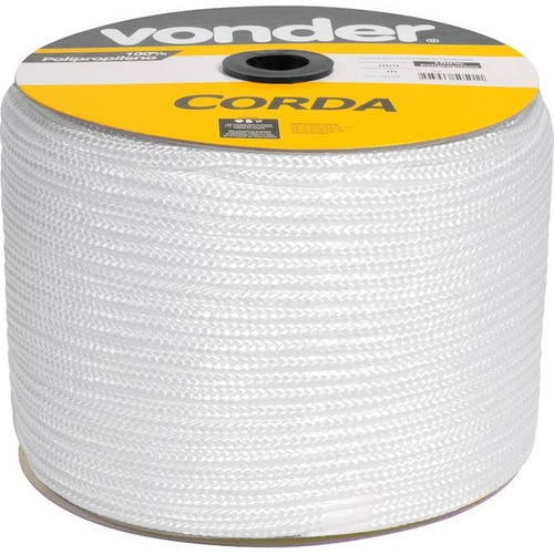 corda multifilamento trançada 10 mm x 190 m branca pp vonder