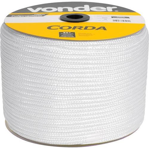 corda multifilamento trançada 10 mm x 190 m  branca vonder