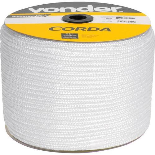 corda multifilamento trançada 12 mm x 140 m branca vonder