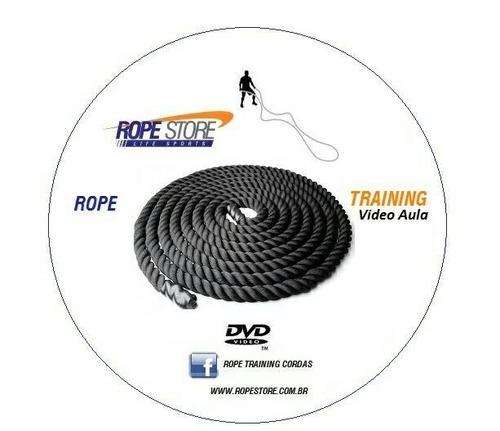 corda naval treinamento funcional 5 metros 40mm + dvd grátis