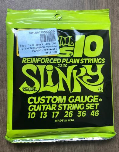corda reforçada ernie ball rps-10 regular slinky 010 - 046