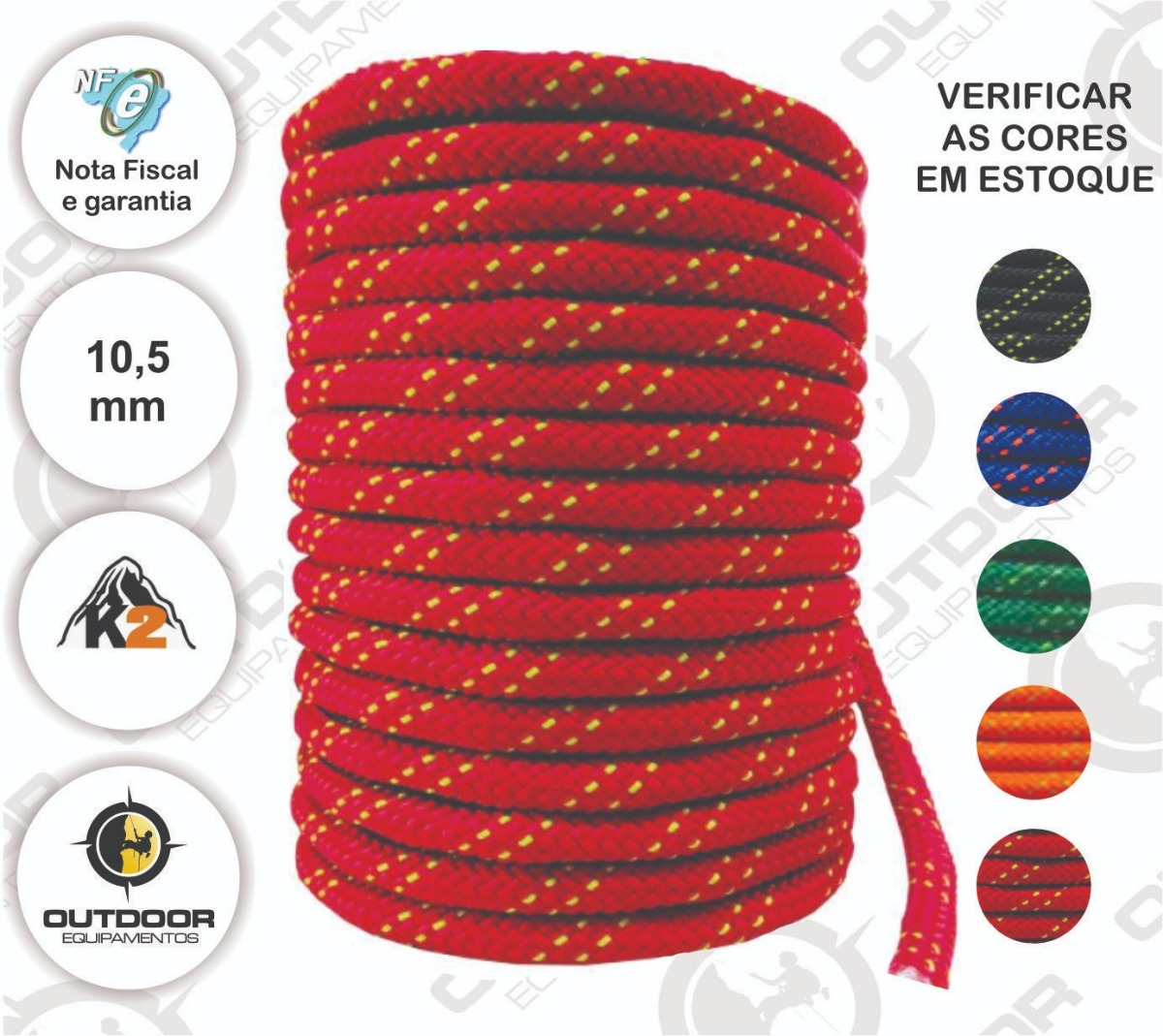 2d89cd9b Corda Semi Estática K2 11,5mm X 100m K2 Rapel Alpinismo - R$ 659,00 ...