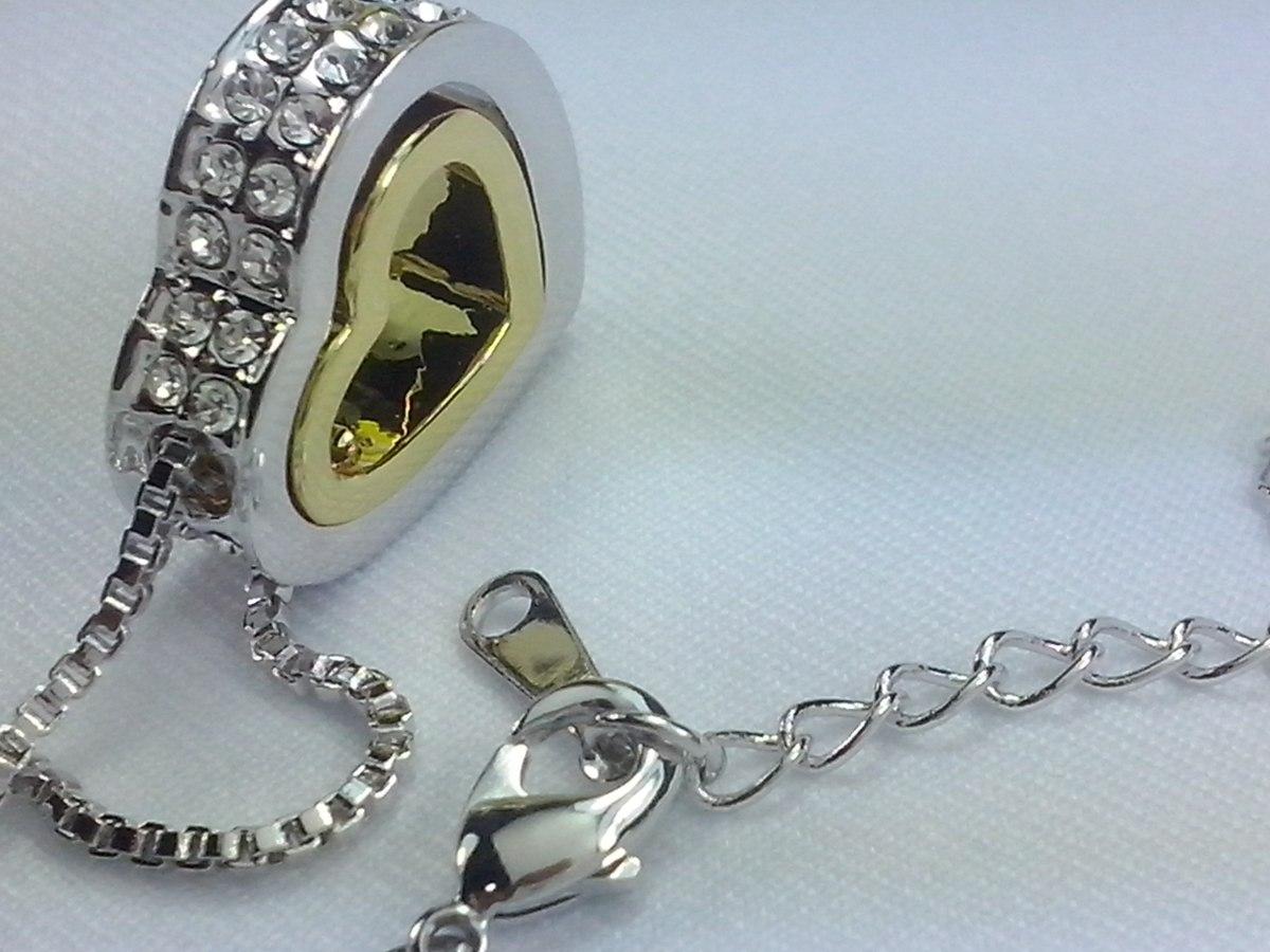 ce4c119cbed23 cordao colar folheado prata feminino swarovski classico. Carregando zoom.